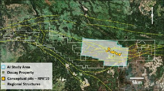 Abb. 1: Gebiet der KI-Erhebung, einschließlich des datenreichen Ressourcengebiets und seiner Erweiterungen