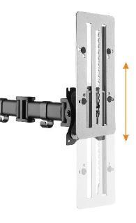 ROLINE VESA Vertikal-Verschiebeplatte für Flexibilität am Arbeitsplatz