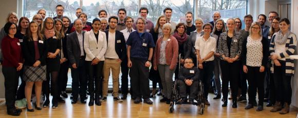 Im Innovations-Centrum Osnabrück tauschten sich die etwa 50 Doktorandinnen und Doktoranden von drei Hochschulen über ihre Forschungsarbeiten aus, Fotos: Hochschule Osnabrück