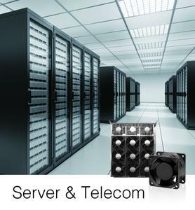 Sunons Lüfter der V-Serie für Server-Anwendungen sind 15% effizienter