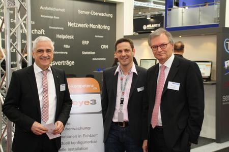 von links Oswald Balzert, Michael Krämer und Gerhard Wack, Saarländischen Staatssekretär