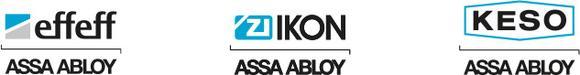 Neue Logos für die ASSA ABLOY-Marken effeff, IKON und KESO