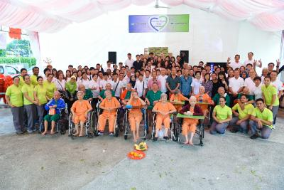 Logwin Singapore: Charity event at the Lee Ah Mooi Old Age Home
