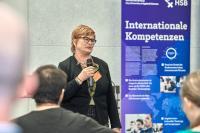 HSB-Rektorin Prof. Dr. Karin Luckey begrüßte die Teilnehmenden / Bild: Hochschule Bremen / Marcus Meyer