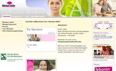 Internetauftritt Dr. Willmar Schwabe / Kopfsache Interaktiv