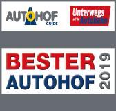 Logo der Leser-Expertenwahl Bester Autohof 2019 (Bildcredit: HUSS-VERLAG)