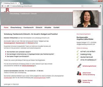 Webdesign - Homepage Rechtsanwalt Scheidung und Erbrecht