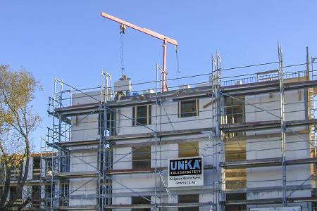 Außenmauerwerk aus massiven Wandbaustoffen wie UNIKA Kalksandstein sind besonders widerstands- und tragfähig (Foto: UNIKA)