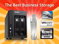 "QNAP 2-bay Atom-based Turbo NAS Awarded ""The Best Business Storage 2010"" by Macworld"