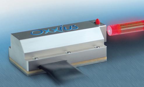 Schmalbandiger DPSS-Laser mit monolithischem Resonator