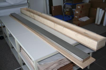 Sonderanfertigung:  Filterbalken für Teppichproduktionsstraße vor dem Verpacken