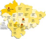 Regionskarte Solarliga 2009