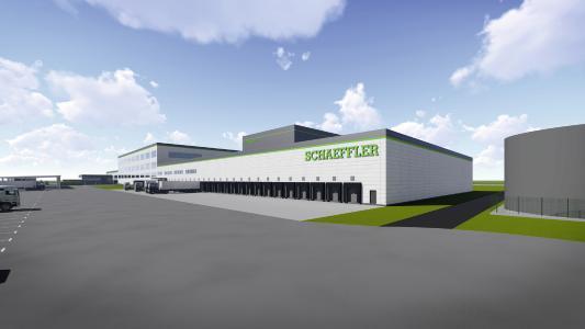 Dematic stattet das neue Ersatzteilzentrum der Schaeffler AG in Sachsen-Anhalt mit Regalbediengeräten, Fördertechnik und einem Multishuttle-System aus / Foto: Dematic