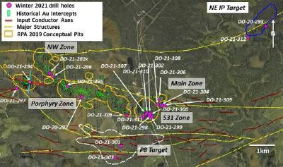 Maple Gold completes winter drill campaign at Douay
