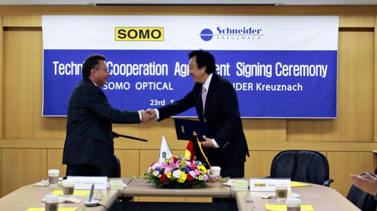Dr. Josef Staub and Soo Joon Shin signing the deal on september 23rd