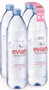 Evian bottle with Nature MultiPack™ Powered by KHS