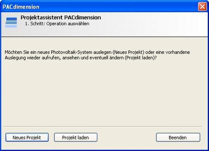screenshot PACdimension assistent