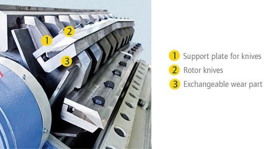 Rotor Baureihe F mit auswechselbaren Verschleißschutz