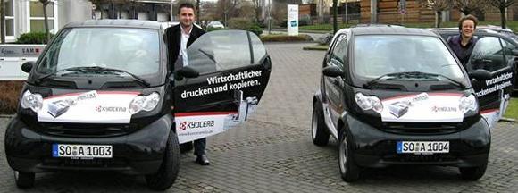 Mit Actebis Peacock smart in Fahrt: Mustafa Degnek und Britta Nass