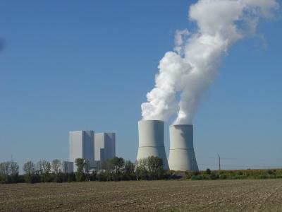 Braunkohlekraftwerk Lippendorf das Leipzig mit Fernwärme versorgt