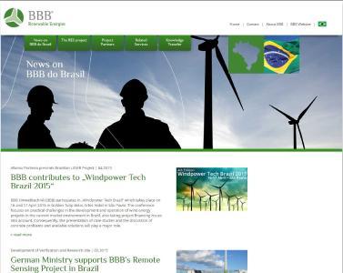 Screenshot der Internetpräsenz