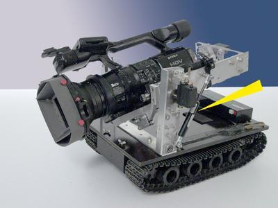 Hydraulische Bremszylinder mit 15 mm Zylinderdurchmesser machen erschütterungsfreie Bilder dieses speziellen Kameragefährts von preisgekrönten Naturfilmern möglich