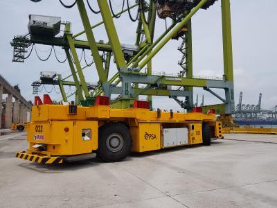 Electrical AGVs as logistic vehicles at PSA Singapore © PSA Singapore