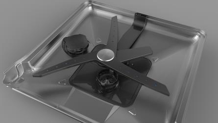 Das innovative CornerWash-System reinigt Geschirr noch gründlicher (© Grundig Intermedia GmbH)