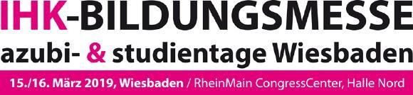 Logo IHK-Bildungsmesse - azubi- & studientage Wiesbaden 2019