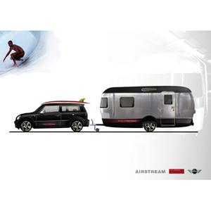 Rendering  MINI und Airstream designed by Republic of Fritz Hansen
