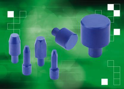 norelem hat Auflage- und Aufnahmebolzen aus extrem robuster Hochleistungskeramik in das Sortiment aufgenommen