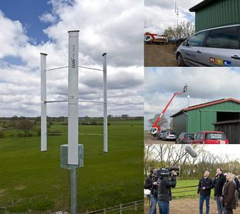 Aufbau der KWEA GWN-TEC 3000 am 22.04.2010 in Norddrebber.