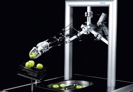 Von der Fischflosse zum BionicTripod 2.0 (Fotos: Festo)