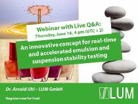 Webinar: An innovative concept for real-time and accelerated emulsion and suspension stability testing