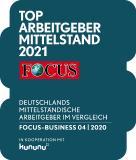 Focus Business Siegel TOP Arbeitgeber Mittelstand 2021