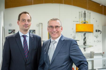 Die aktuellen Geschäftsführer (Jan Molter links, Daniel Schwind rechts)