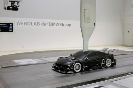 BMW M4 DTM Modell, Aero Lab der BMW Group