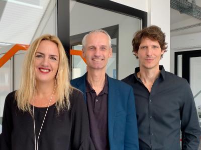 Prof. Dr. Julia Schössler, Jochen Kalka und Tim Brandt – das neue Führungstrio von schoesslers. (schoesslers)