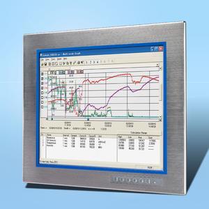 FlatPanel-Monitor mit Edelstahlfront für IP65