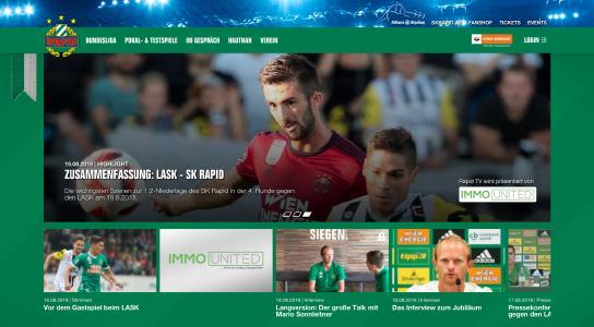 SK Rapid Wien jetzt auch digital erste Liga