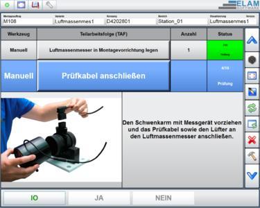 Beispiel einer Arbeitsanweisung mit der ELAM-Werkerführung