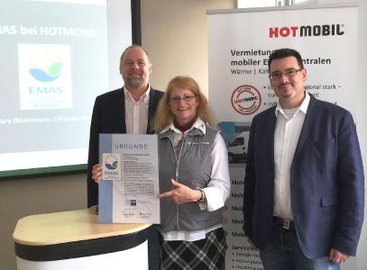 von links: Rainer Notter, Mary Biedermann (beide Geschäftsführung Hotmobil), Christian Noack (Hotmobil Referent Managementsysteme), Bildquelle Hotmobil Deutschland GmbH