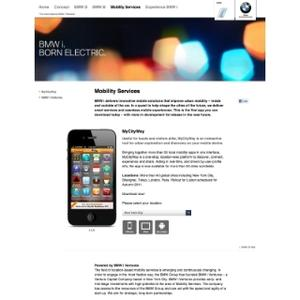 Webpage BMW i Mobilityservices
