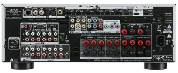 AVR-3313 Rückansicht