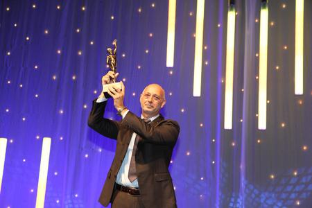 Michael Englert, Vorstandsvorsitzender und Gründer der ITK Engineering AG bei der Preisverleihung in Düsseldorf (Foto: Oskar-Patzelt-Stiftung, Boris Löffert)