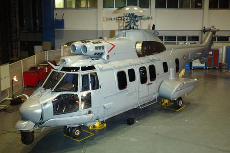 Eurocopter's no. 1 EC725 helicopter for the Royal Malaysian Air Force is enclosed (© Copyright Eurocopter, Jérôme Deulin)