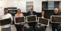 Von links: Andreas Ziegelmeyer, Regine Pilz, Prof. Dr. Oliver Türk, Franziska Beringer, Martin Rector