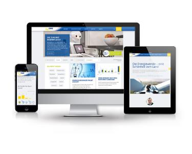 Screenshot ewe.com -  Gewinner des Deutschen PR Preis