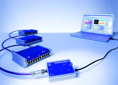 Bis zu 50 verteilte Messkanäle lassen sich mit CANHEADdirect über ein Kabel an den PC anschließen.