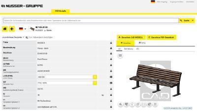 NUSSER bietet 3D BIM Objekte von Stadtmöbeln powered by CADENAS für einfachere Planungen